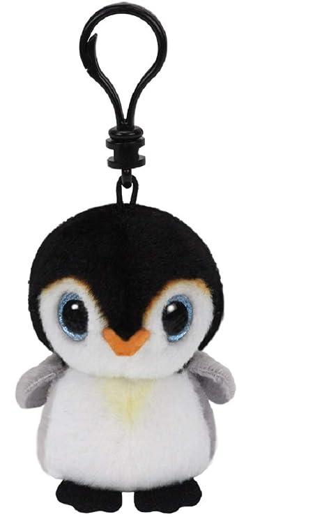 Ty Pingüino de Peluche Beanie Babies con Ojos Brillantes, 8,5 cm, de