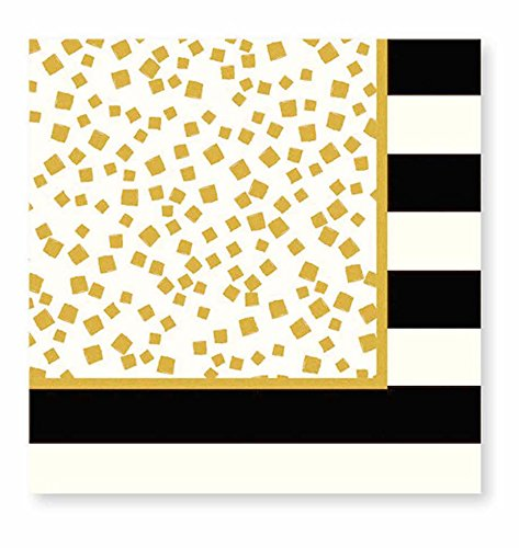 Cheers Lunch Napkins (C.R. Gibson Holiday Cheer 20 Count Lunch Napkins, Gold/Black)
