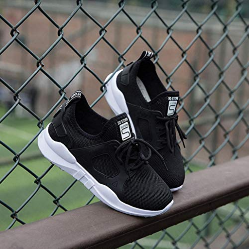 Cordones Mujer para o Calzado Negro y oto Libre Running de con Deportes Zapatillas QinMM Gym Aire Transpirables Primavera Zapatos Verano Mallas z1Pw8nq