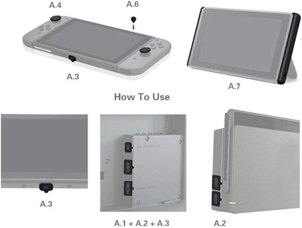 Film de Protection d/écran en Verre tremp/é de duret/é pour Console Nintend Switch NS WOSOSYEYO Jeu daccessoires pour Console de Jeu Kit antipoussi/ère