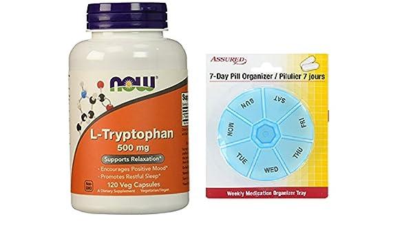 Amazon.com: AHORA L-triptófano 500 mg, cápsulas de 120 Veg: Health & Personal Care