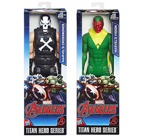 Marvel Titan Hero Series Crossbones VS Vision Action Figure Avengers Set