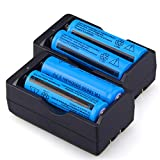 WishDeal 5000 mAh 3.7 V 18650 Battery Rechargeable Battery for LED Flashlight + 2 x Dual Chargers ( Not AA OR AAA BATTERY )