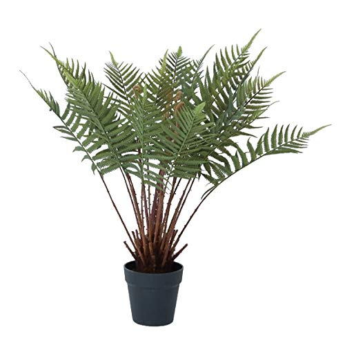 人工観葉植物 ファーンポット(2個セット) ba010 シダ植物 (代引き不可) インテリアグリーン 造花 POT FERN B07T12MG1D