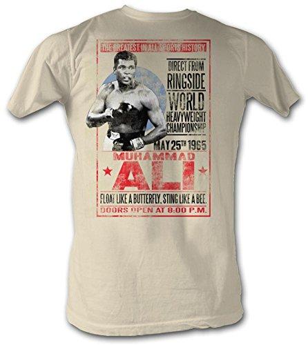 Muhammad Ali T-Shirt May 25th 1965 Poster Natural Tee, Large