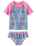 Osh Kosh Girls' Toddler 2-Piece Swim Suit (Multiple Varieties), Summer Sea, 4T