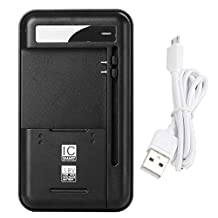 Lrker Universal USB Wall Travel Spare Battery Charger 3rd Version for Wider 3.8V High-voltage External Removable Cellphone Battery Combo with 1 Micro USB Data Cable