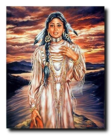Native American Female Art