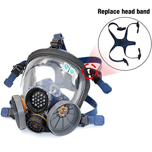 Price comparison product image Holulo Organic Vapor Full Face Respirator and Holulo Filter Cartridges (Replace head band)