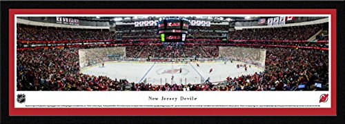 New Jersey Devils   Center Ice   Blakeway Panoramas Nhl Posters With Select Frame