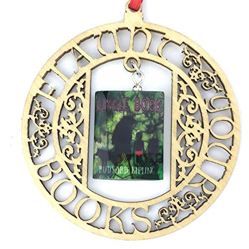 THE JUNGLE BOOK Rudyard Kipling Clay Mini Book FRAMED Ornament Wall Decoration by Book Beads