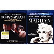 The King's Speech & My Week With Marilyn Monroe Blu Ray Drama Movie Set