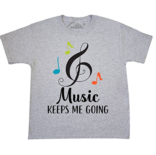 - inktastic - Music Lover Quote Youth T-Shirt Youth Small (6-8) Ash Grey 2ef76
