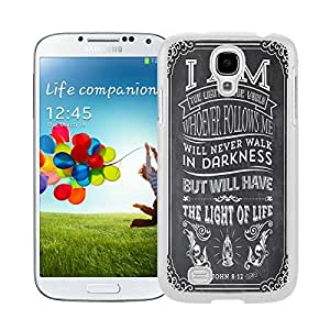 Personalized Samsung Galaxy S4 Case Durable Soft TPU White Phone Back Cover CiCi Mode Christian Jesus Bible Verse