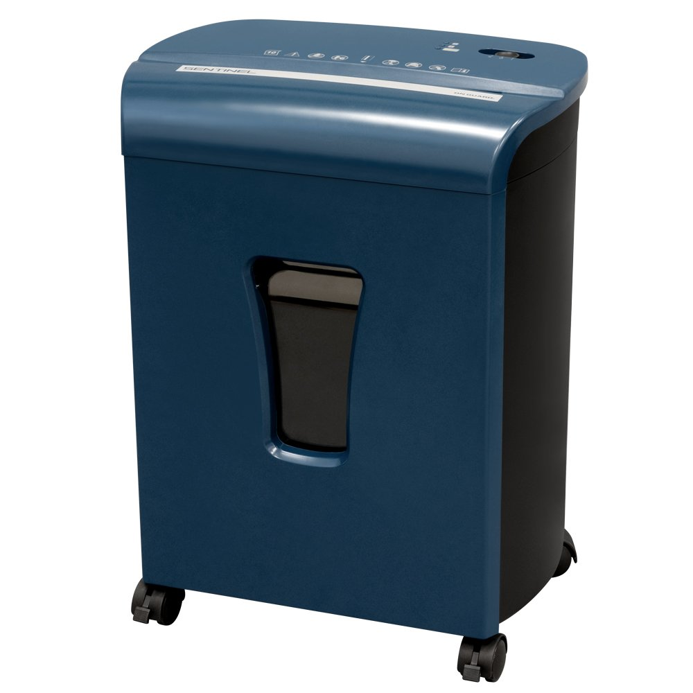 Sentinel FM101P-BLE 10-Sheet High Security Micro-Cut Paper/Credit Card Shredder with 3.5 gal Pullout Waste Basket Blue