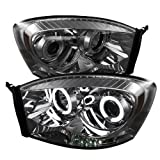 08 dodge ram smoked headlights - Spyder Auto 5041968 CCFL Halo Projector Headlights Chrome/Smoked