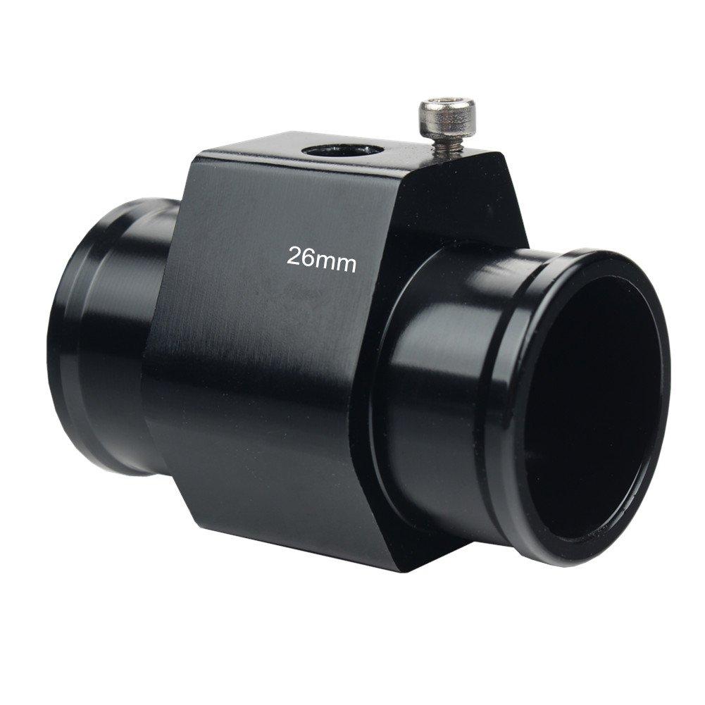 Dewhel Aluminum Blue Water Temp Meter Temperature Gauge Joint Pipe Radiator Sensor Adaptor Clamps 30mm