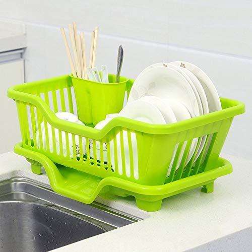 Emily Sink Dish Multi-Function Drainer Drying Rack Washing Holder Basket HQS0001663 Green