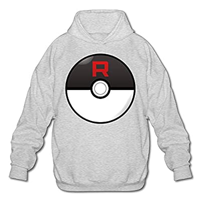 XJBD Men's Team Rocket Hooded Sweatshirt Ash