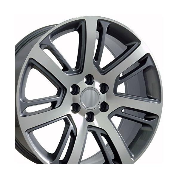 OE-Wheels-22-Inch-Fit-Chevy-Silverado-Tahoe-GMC-Sierra-Yukon-Cadillac-Escalade-CA88-Gunmetal-Machd-22×9-Rims-Hollander-4738-SET