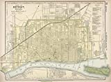 World Atlas | 1891 Map of Detroit, Michigan. 73 | Historic Antique Vintage Reprint