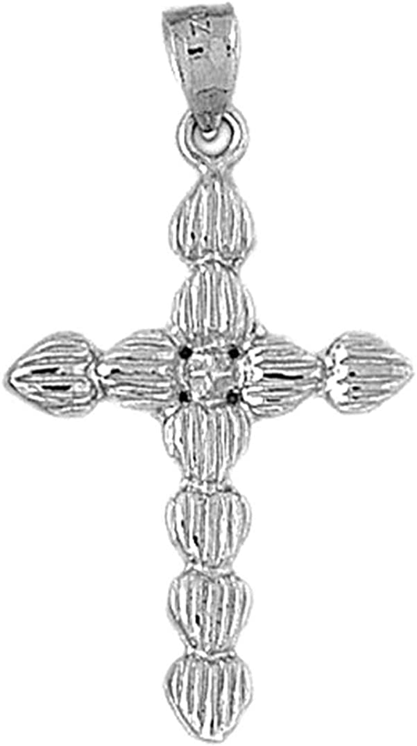 39 mm Jewels Obsession Cross Pendant Sterling Silver 925 Cross Pendant