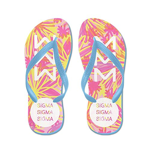 Cafepress Sigma Sigma Sigma Yellow - Infradito, Sandali Infradito Divertenti, Sandali Da Spiaggia Blu Caraibico
