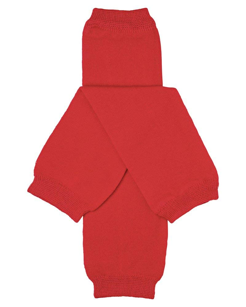 juDanzy Solid Red Baby and Toddler Boy and Girl Leg Warmers