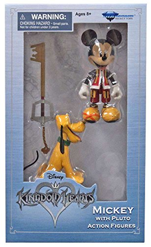 Diamond Select Toys Disney Kingdom Hearts Mickey Mouse with Pluto (Exclusive) Exclusive Mickey Mouse