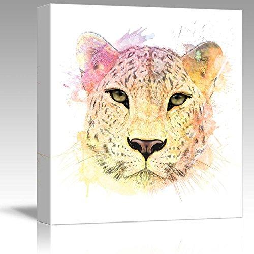 Fun and Colorful Splattered Watercolor Cheetah