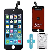 SANKA LCD Screen Replacement Touch Screen Display Digitizer Glass Frame Assembly with Repair Tool Kit for iPhone 5C