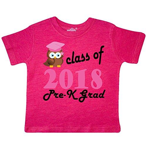 inktastic - Pre-K 2018 School Toddler T-Shirt 3T Retro Heather Pink 2fa90 (Tee School Toddler)