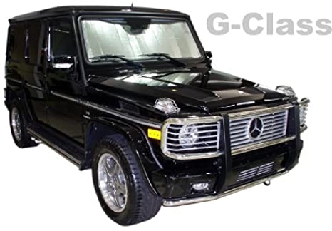 amazoncom sunshade for mercedes g class 2000 2017 heatshield windshield custom fit sunshade 120 automotive