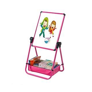 Lavagna Magnetica Lavagna Verde Lavagna a Due Lati per la casa Mobile con Tavolo da Disegno Tipo Staffa, Lavagna per Bambini per Studenti (Color : Red)