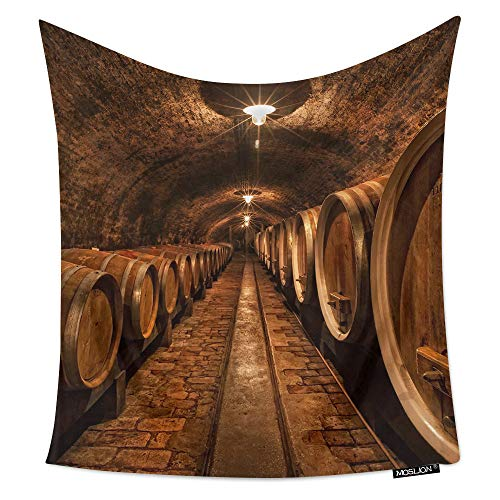 Moslion Room Art Wall Tapestry Wine Cellar Cool Dorm/Bedroom Decor Tapestry Wall Hanging for Men/Boy/Girl/Kids 60W X 80H Inches