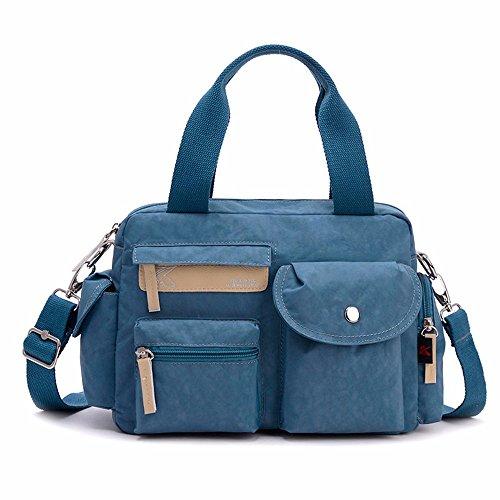 Lienzo bolso de mano, bolso de hombro, bolso de nylon Oxford Cloth Lady bag, Leisure,Azul marino Mar Azul Color