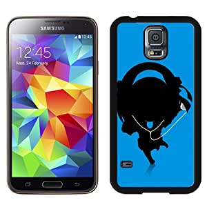 NEW DIY Unique Designed Samsung Galaxy S5 I9600 Phone Case For Cartoon Music Girl Silhouette Phone Case Cover