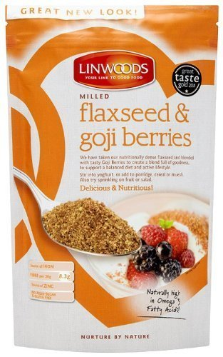 Linwoods Milled Organic Flaxseed And Goji Berries 425G (Pack Of 2)