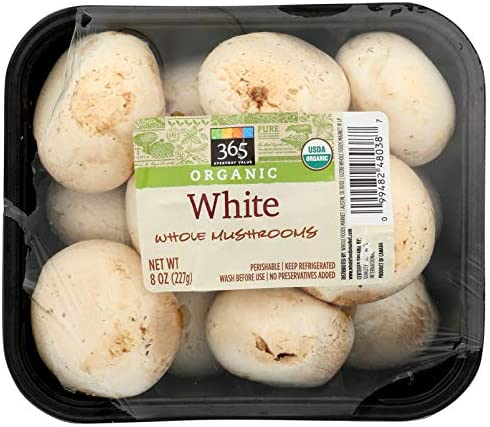 365 Everyday Value, Organic White Whole Mushrooms, 8 oz