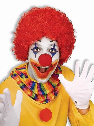 Afro Wigs For Kids (Forum Novelties Clown Afro Wig Costume Accessory (One Size, Red))