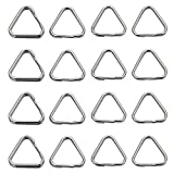 Monrocco 50Pcs Stainless Steel Jump Rings Triangle Jump Rings for Jewelry Making Keychains Keyrings