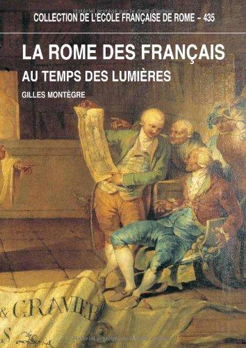la rome des francais au temps des lumieres