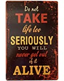 RETRO METAL WALL SIGN TIN PLAQUE VINTAGE SHABBY CHIC INSPIRATIONAL LOUNGE LIFE