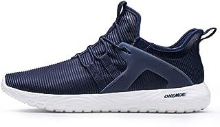 YAYADI Mens Sneakers Sneakers Femmes Ultra Léger Semelle Souple Élastique pour Le Jogging en Plein Air Chaussures De Marche De Rembourrage