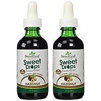 SweetLeaf Sweet Drops, edulcorante líquido de Stevia, avellana, 2 onzas (paquete de 2)