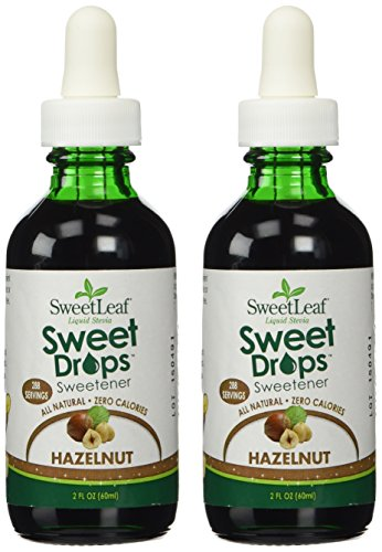SweetLeaf Sweet Drops Liquid Stevia Sweetener, Hazelnut, 2 Ounce (Pack of 2)