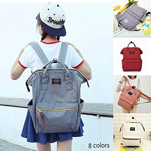 Wyhui New Casual Style Canvas School Bags Famous Designer Brand Backpack for Girls Handbag Gold