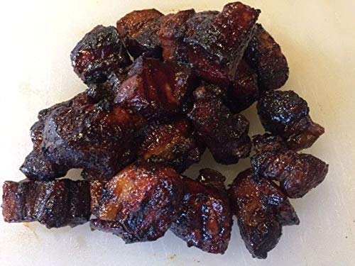(Maple Hickory Smoked Pork Belly burnt ends 3 ounce portion 10 delicious flavors )