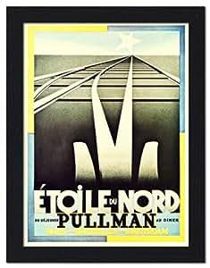Etoile du Nord, artista: tipo A Cassandre, Art Deco, barra Póster de viaje, 1917 - con metro de 32 x 42 cm negro