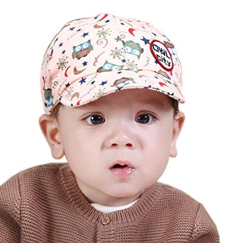 f9ecae5505c Ularmo® Baby Boy Girl Kid Toddler Infant Hat Peaked Baseball Beret Cap  (Pink)